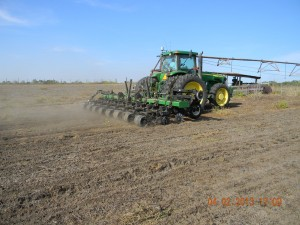 fulford strip till behind soybeaans
