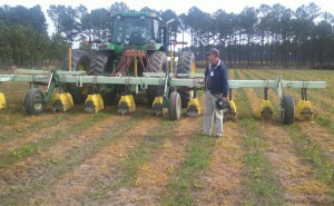 Mr. Ronnie Barentin of UGA Extension in Dooly County GA describes the equipment for banding herbicide