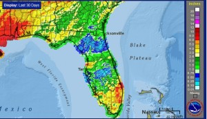 Previous 30 days rainfall leaves North Florida with many unplanted fields.